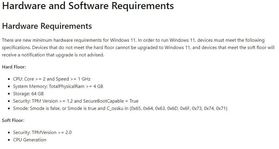 llaitevaatimuksia windows 11.
