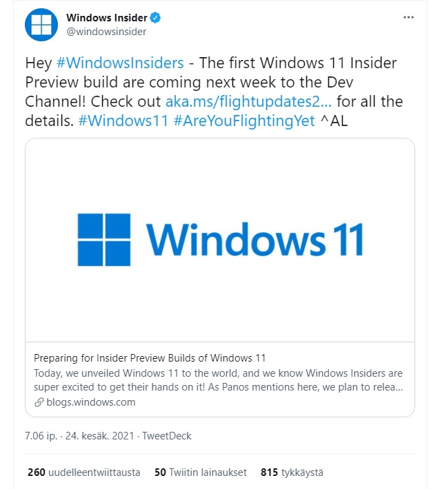 windows 11 insider.